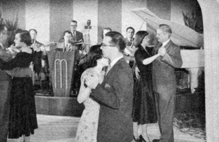 "FOR MANY YEARS, COUPLES DANCED IN OUR DINING ROOM TO THE ""LILTING: SOUNDS OF THE MURRAY'S ORCHESTRA."