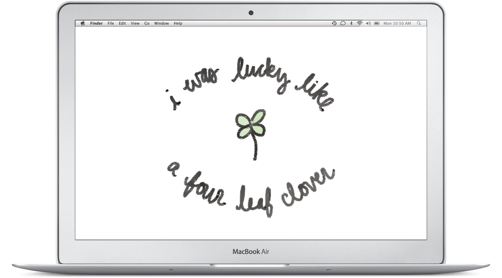 lucky like a four leaf clover desktop background by everglow handmade