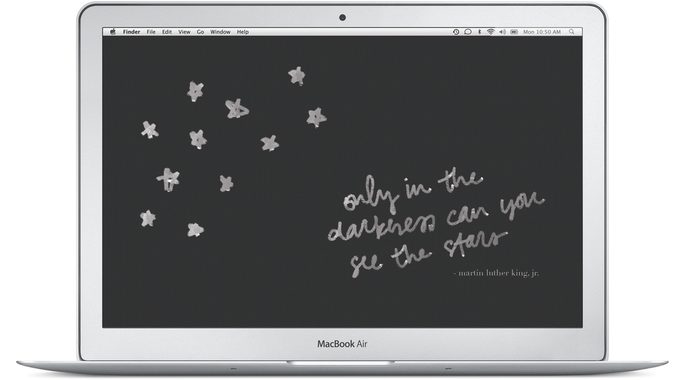 only in the darkness can you see the stars martin luther king jr quote background by everglow handmade