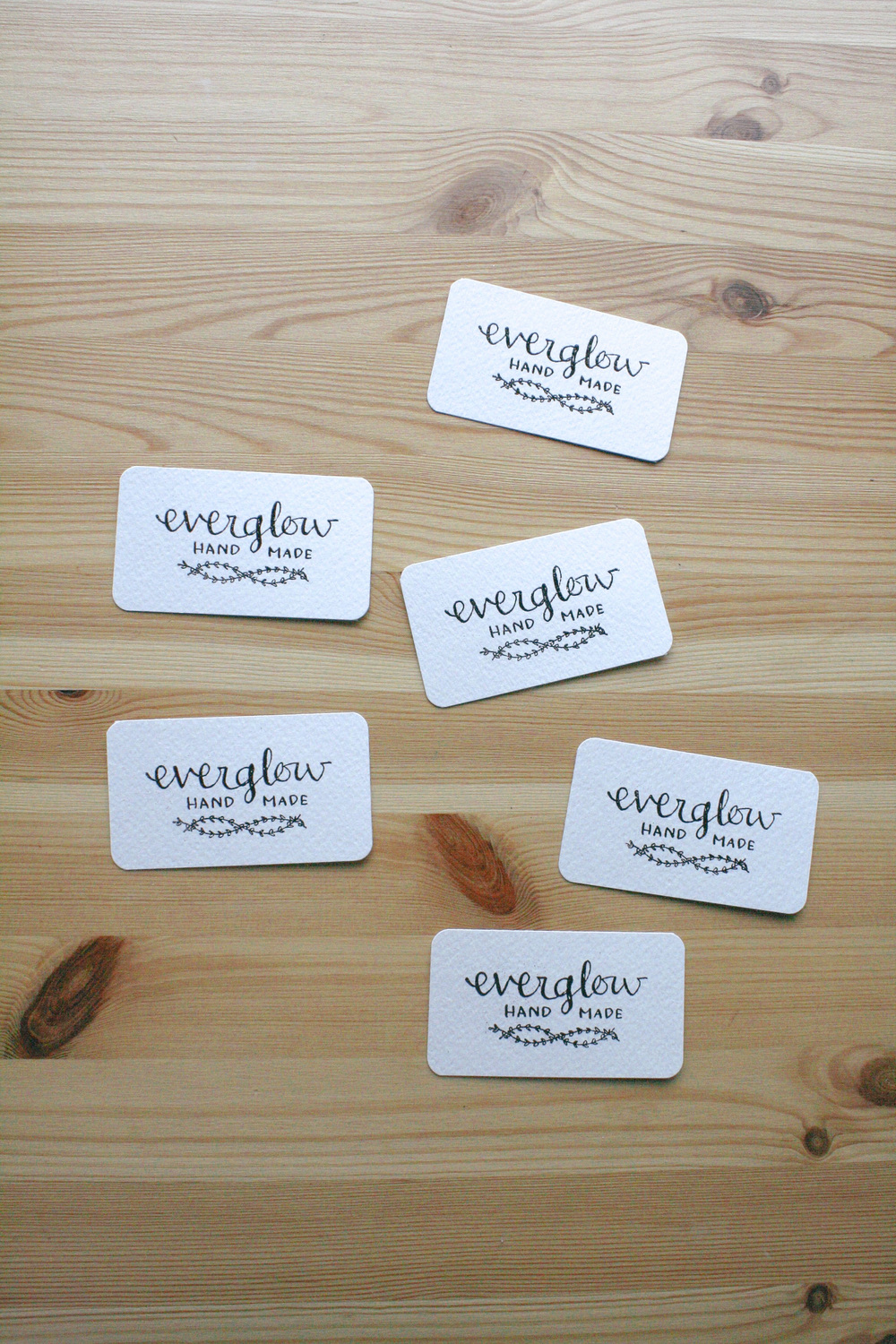 everglow handmade embossed business cards custom