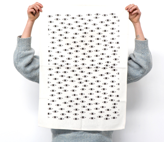 min pin design interview by everglow handmade jesse eyesenberg tea towel