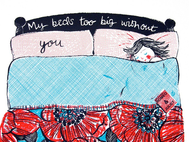 my beds too big without you lisa stubbs for everglow handmade