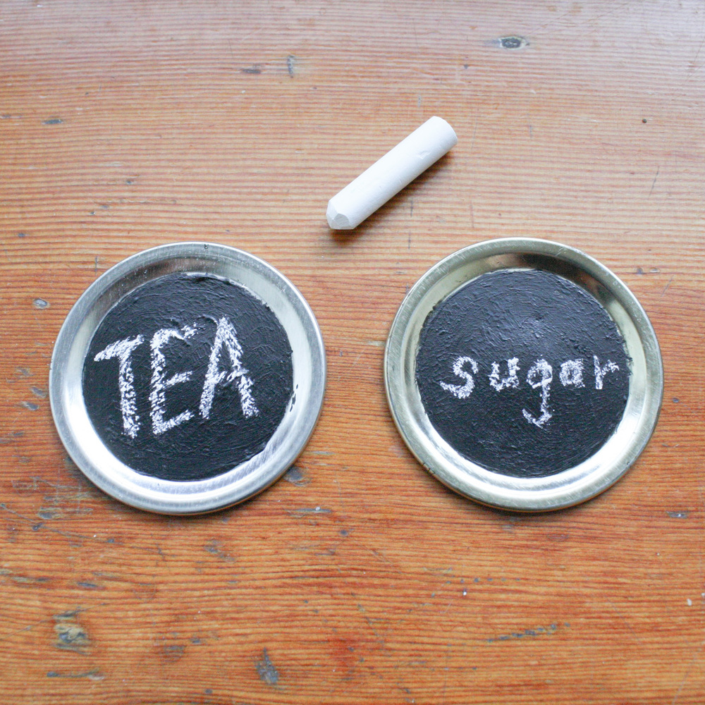 chalkboard lids diy craft make by everglow handmade