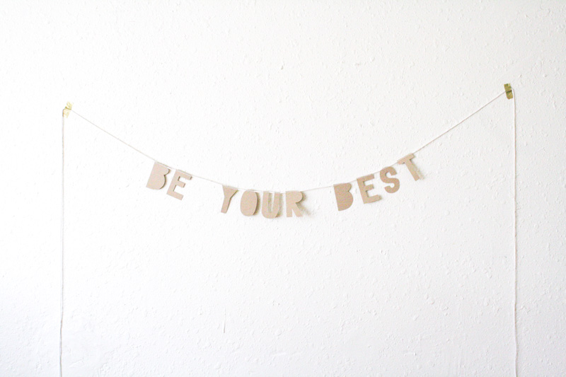 be your best kraft paper banner by everglow handmade