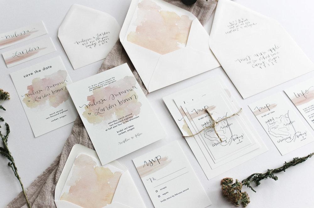 custom calligraphy invitation melissa 1