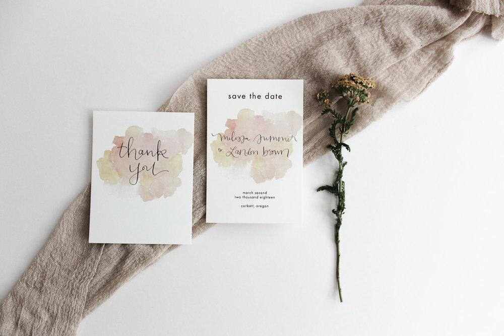 custom calligraphy invitation melissa