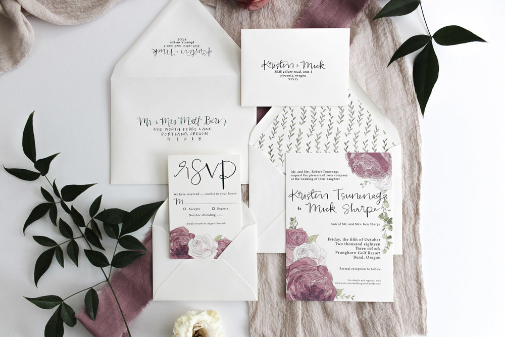 custom calligraphy invitation suite 1