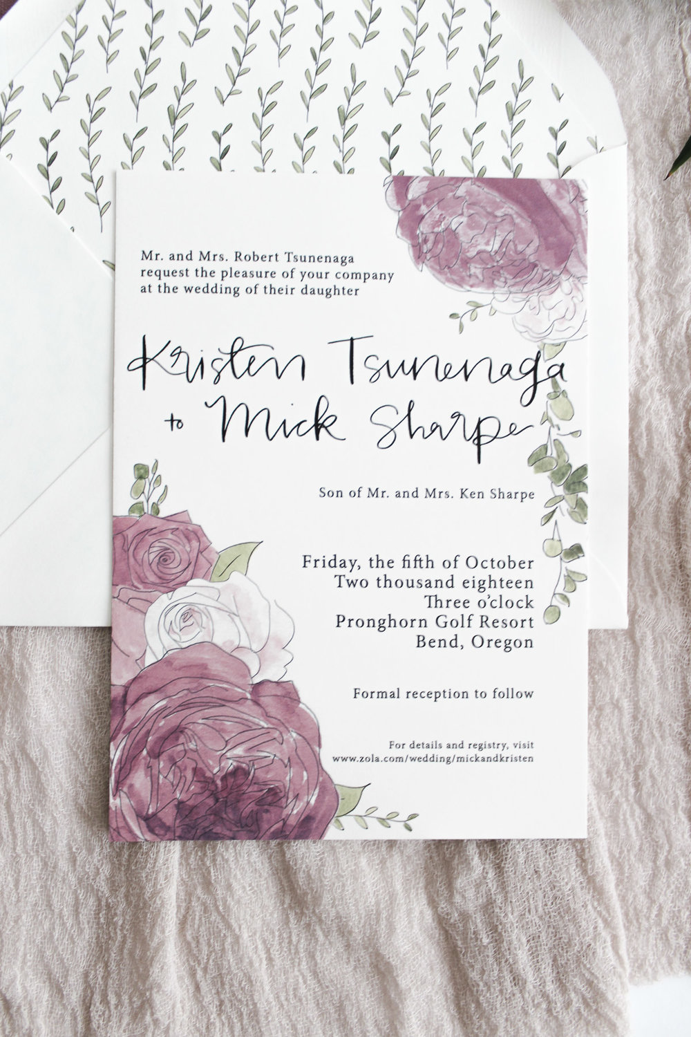 custom calligraphy invitation suite 2