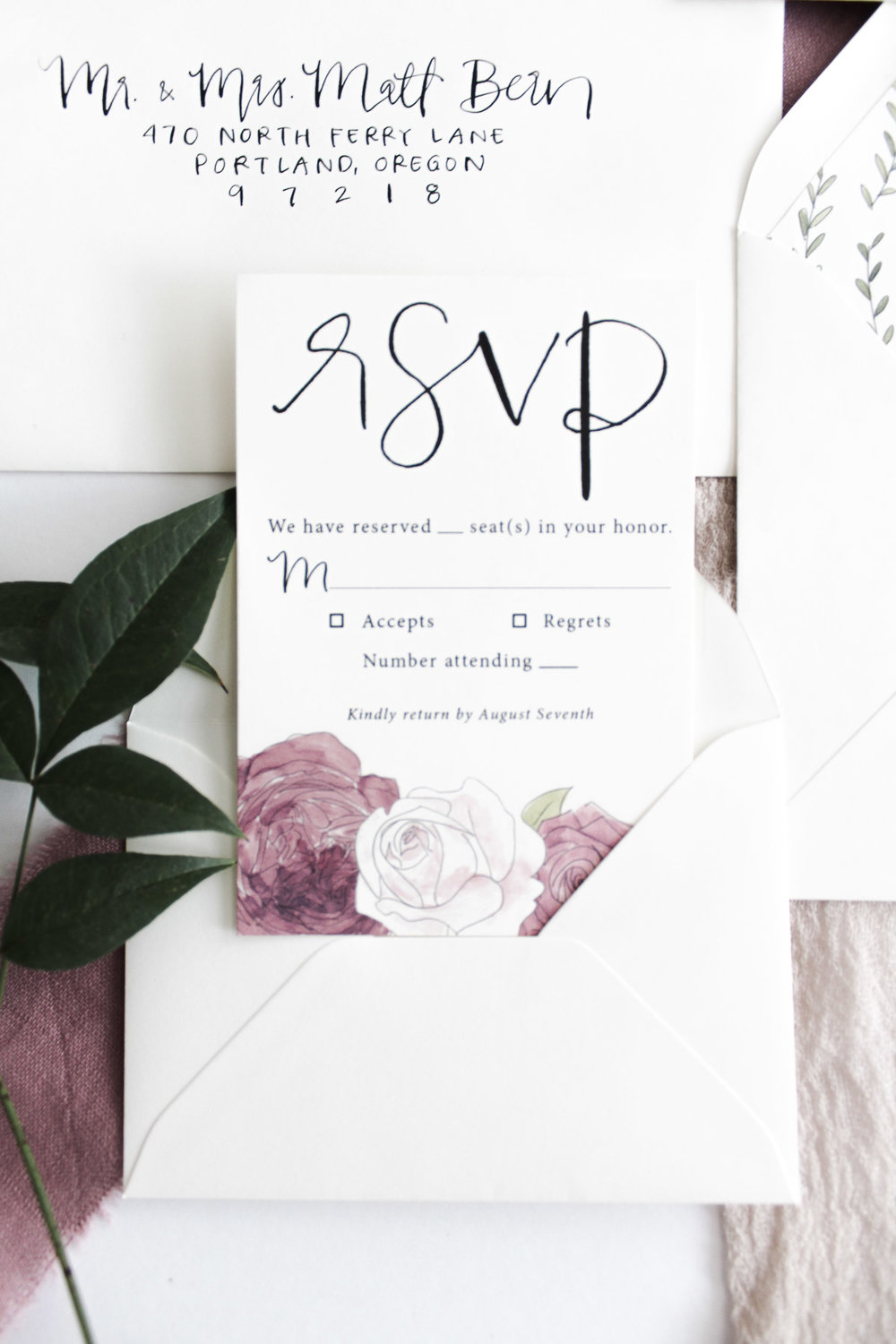custom calligraphy invitation suite 3