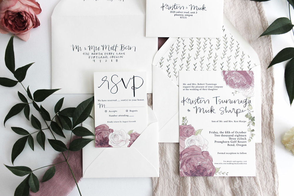 custom calligraphy invitation suite 4