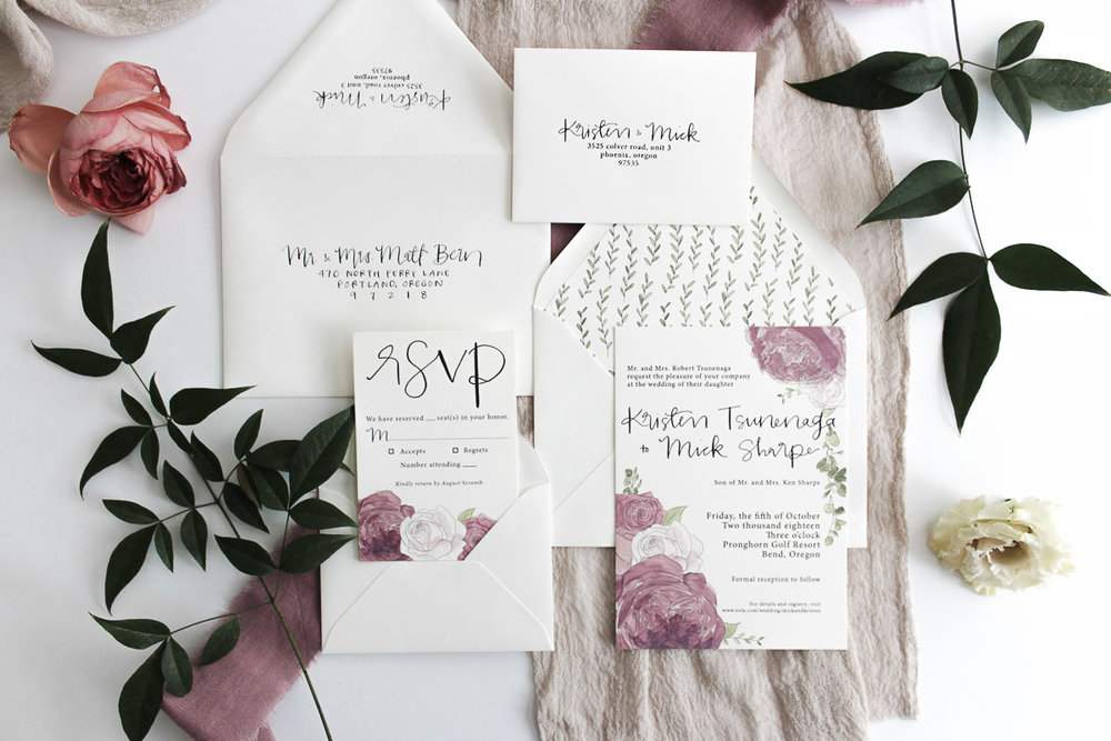 custom calligraphy invitation suite 6