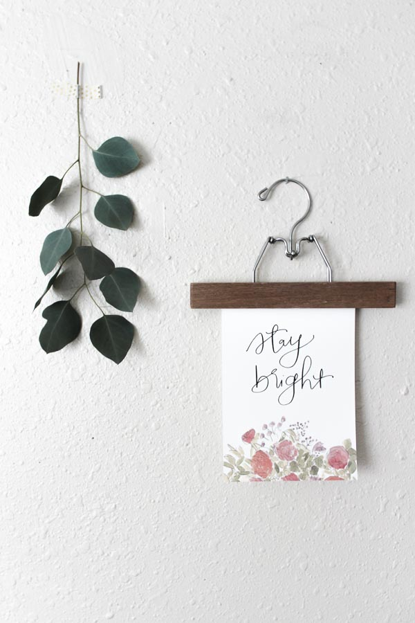 stay bright  calligraphy print