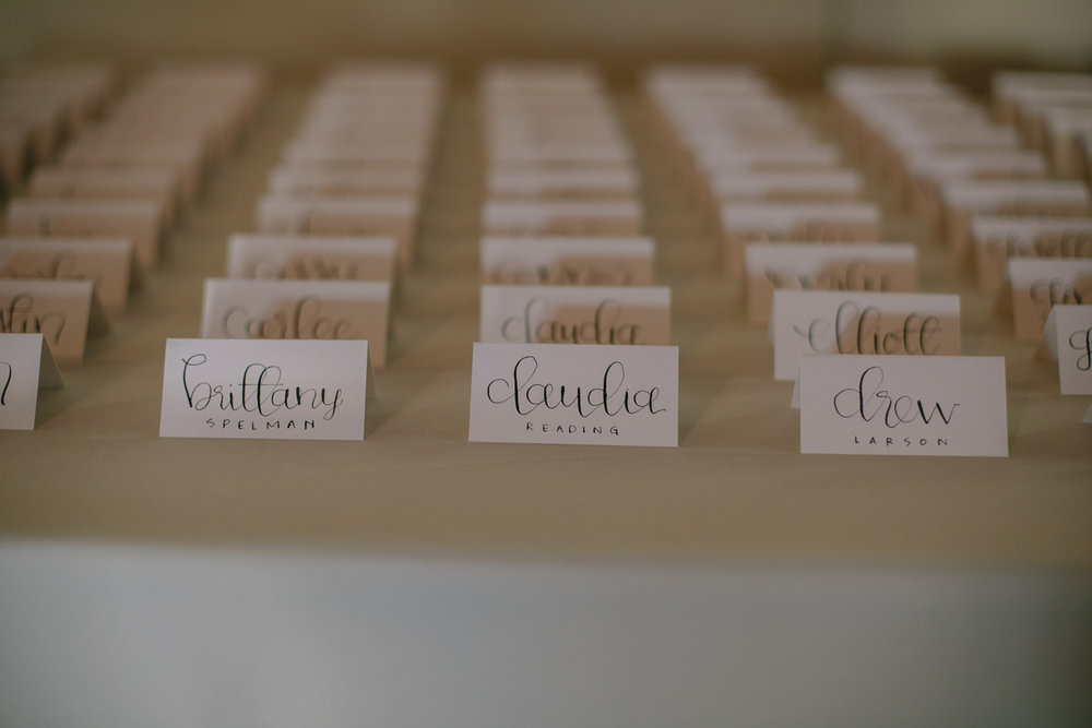 portland wedding calligraphy