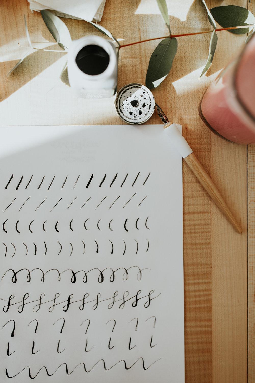 everglow handmade modern calligraphy workshop portland