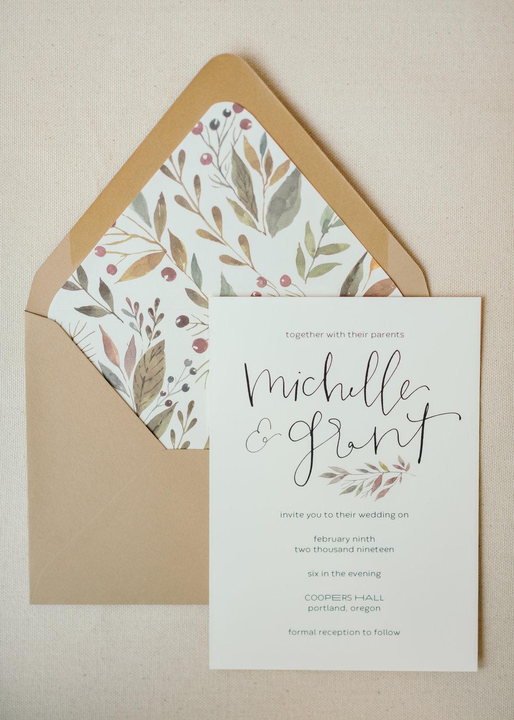 beautiful autumn wedding invitations 1