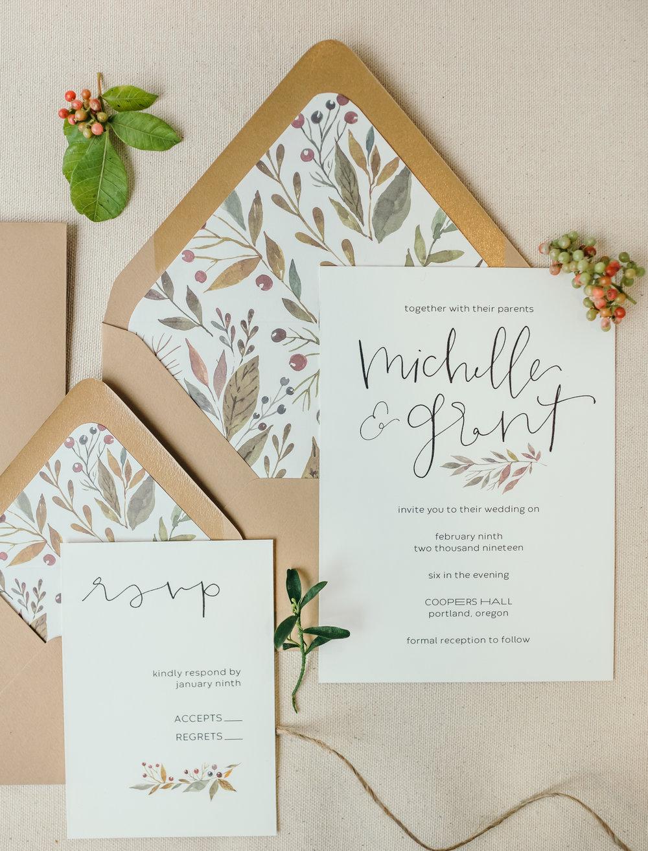 beautiful autumn wedding invitations 2