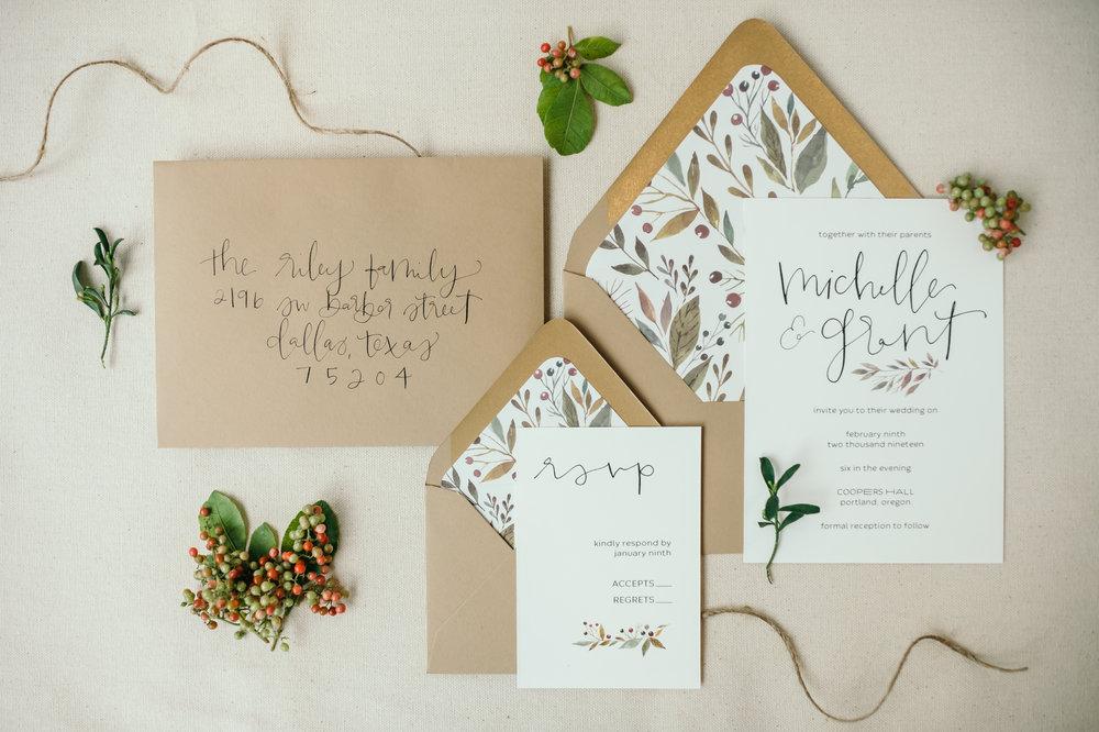 beautiful autumn wedding invitations 3