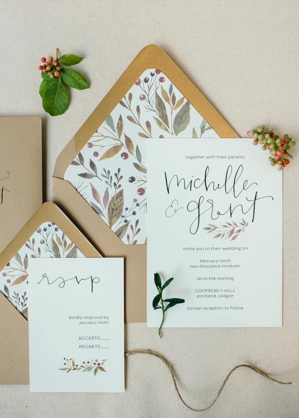 beautiful autumn wedding invitations 6