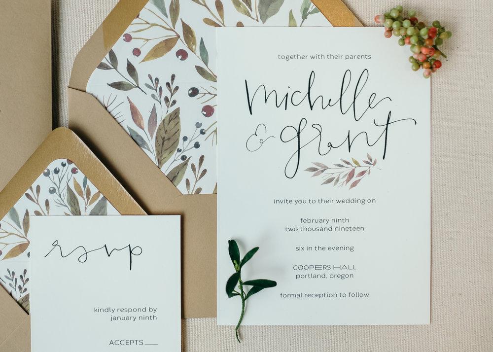 beautiful autumn wedding invitations 5