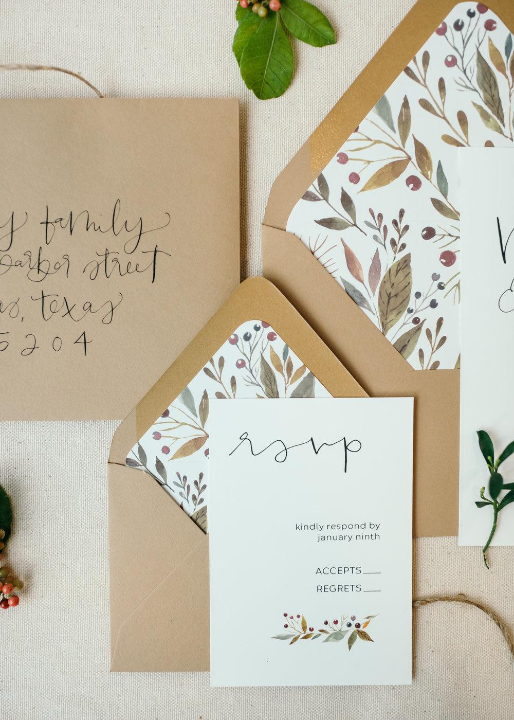 beautiful autumn wedding invitations 7