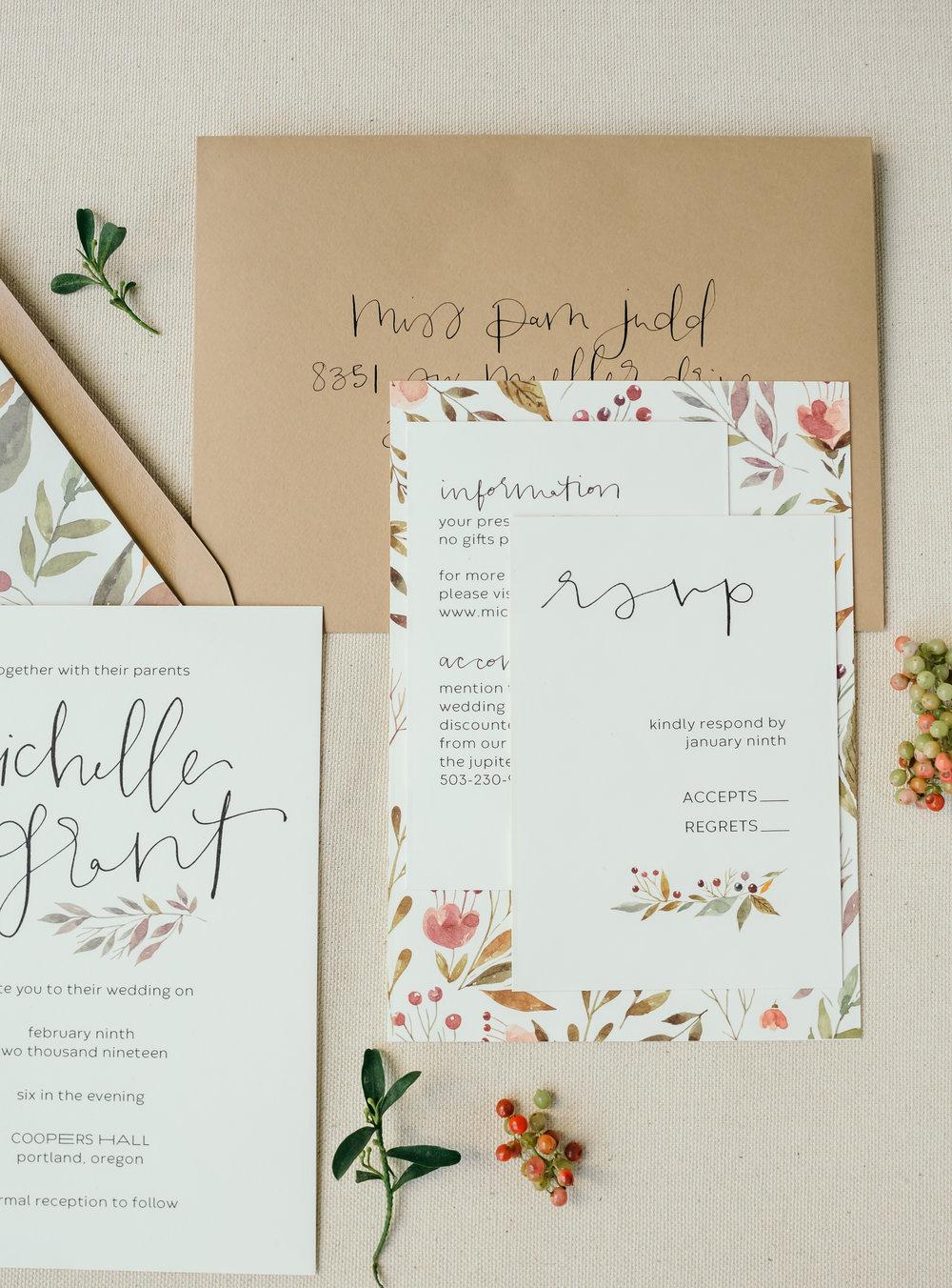 beautiful autumn wedding invitations 16