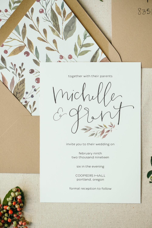 beautiful autumn wedding invitations 15