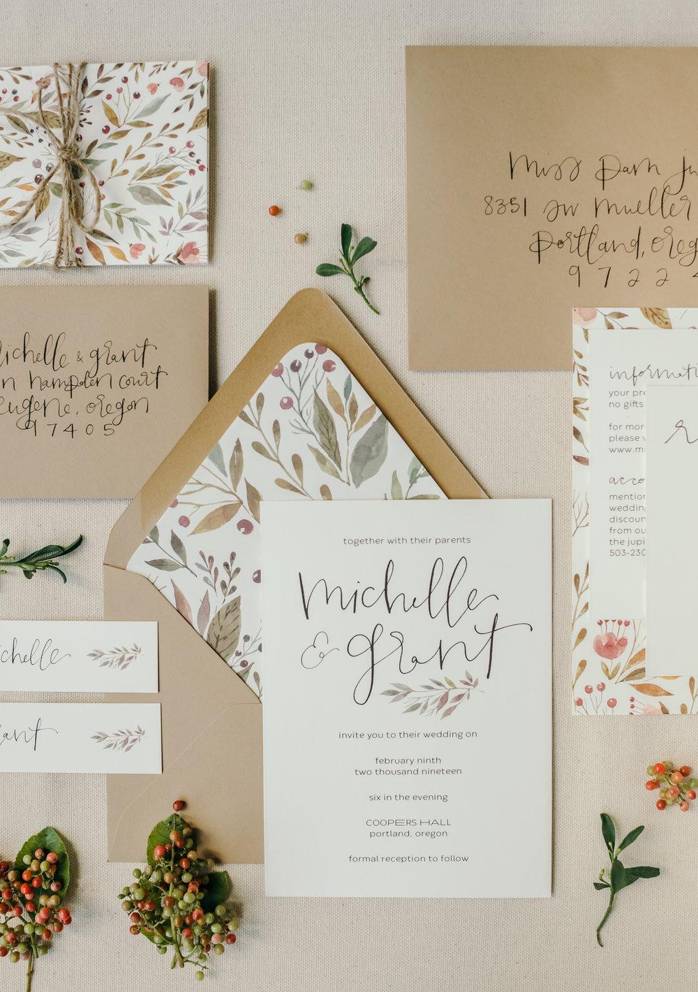 beautiful autumn wedding invitations 13