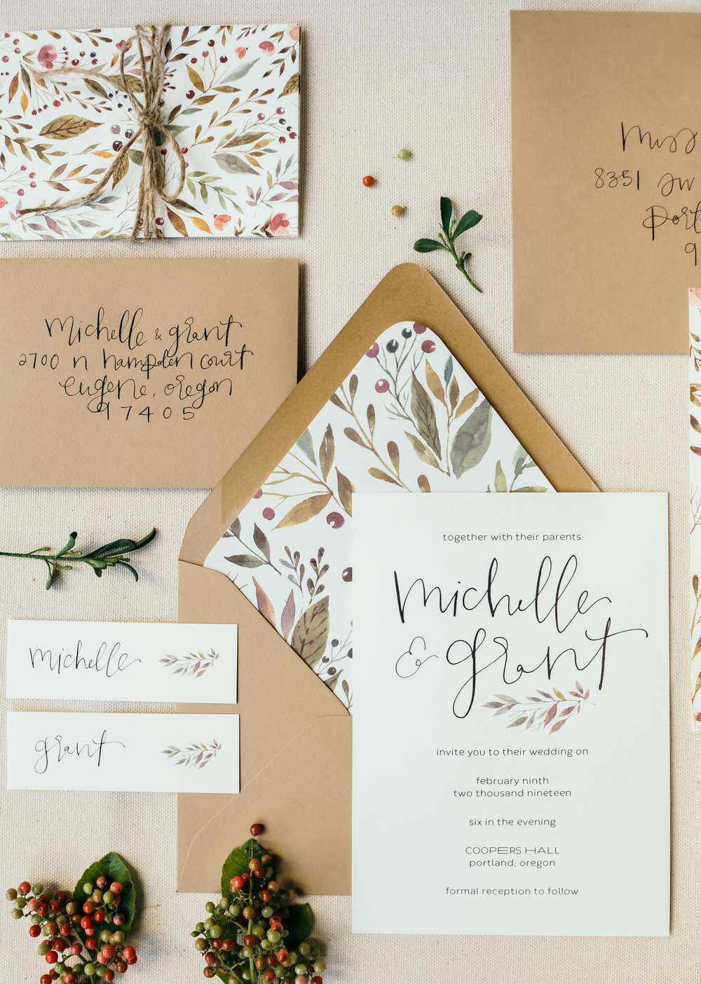 beautiful autumn wedding invitations 9