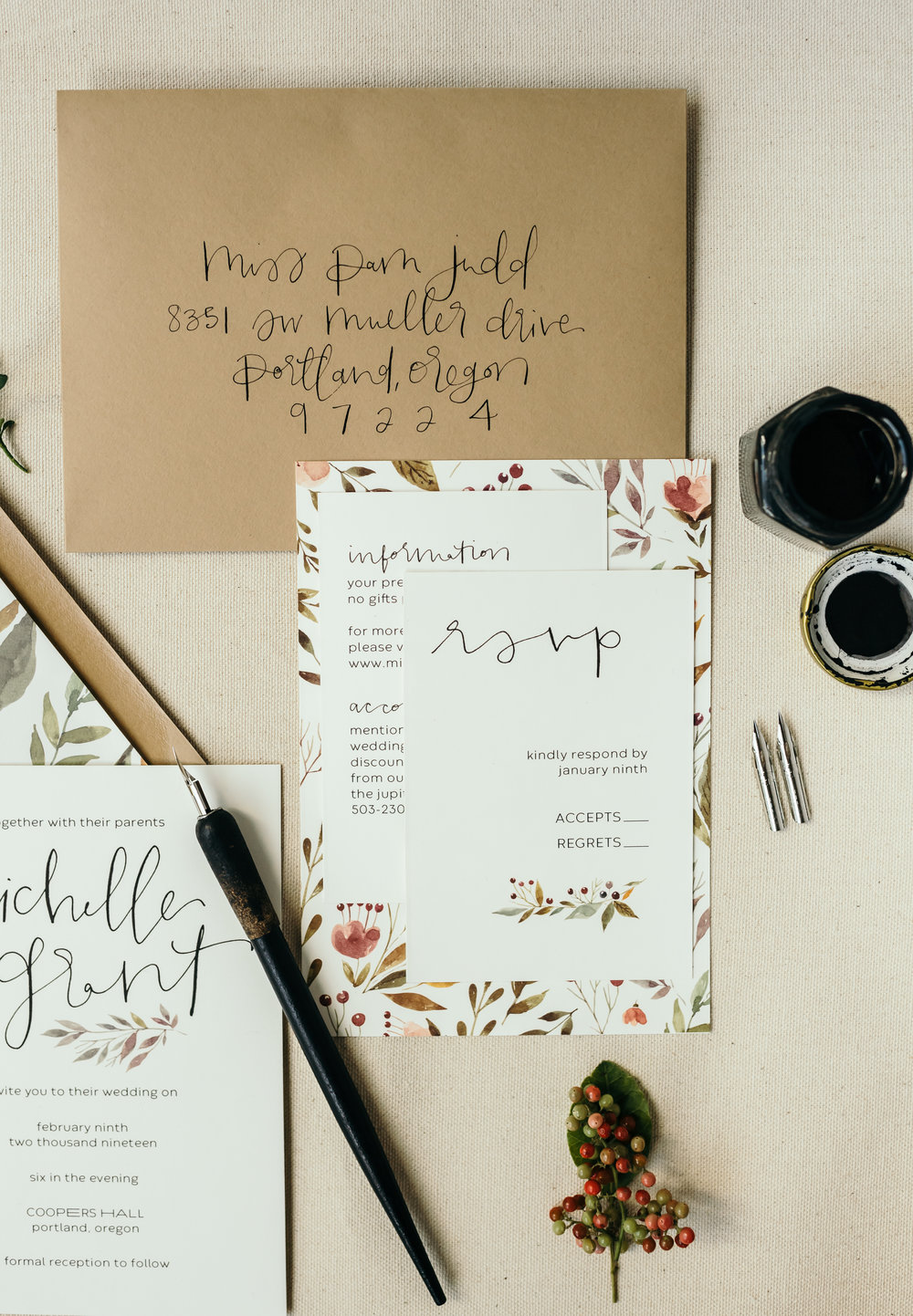 beautiful autumn wedding invitations 10
