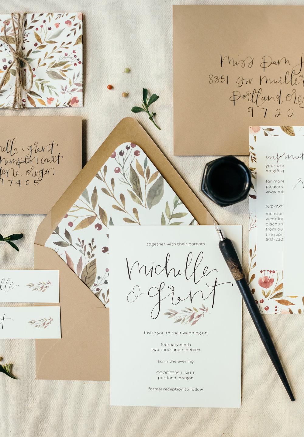 beautiful autumn wedding invitations 11