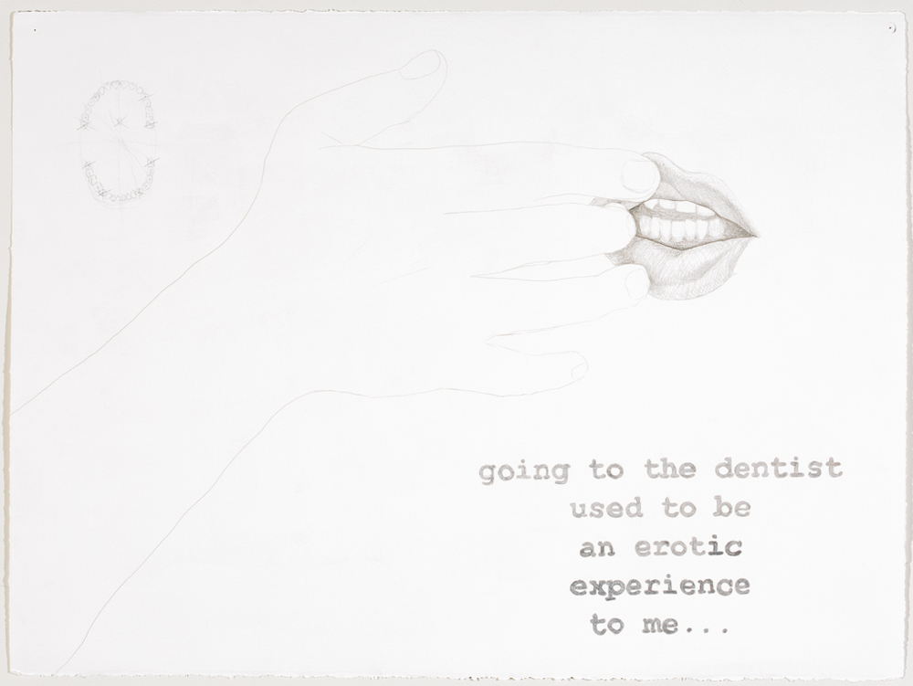 going to the dentist used to be an erotic experience to me...