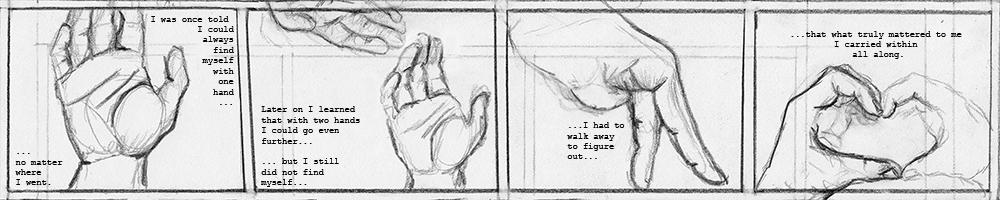 """Smitten (2016) 10""""x 2' graphite on paper"""