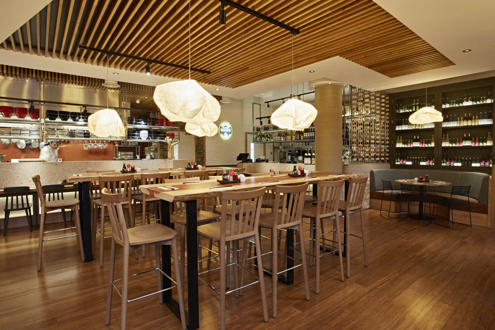 Ori pendants,  Shoryu Kingly restaurants, London and Manchester, UK.