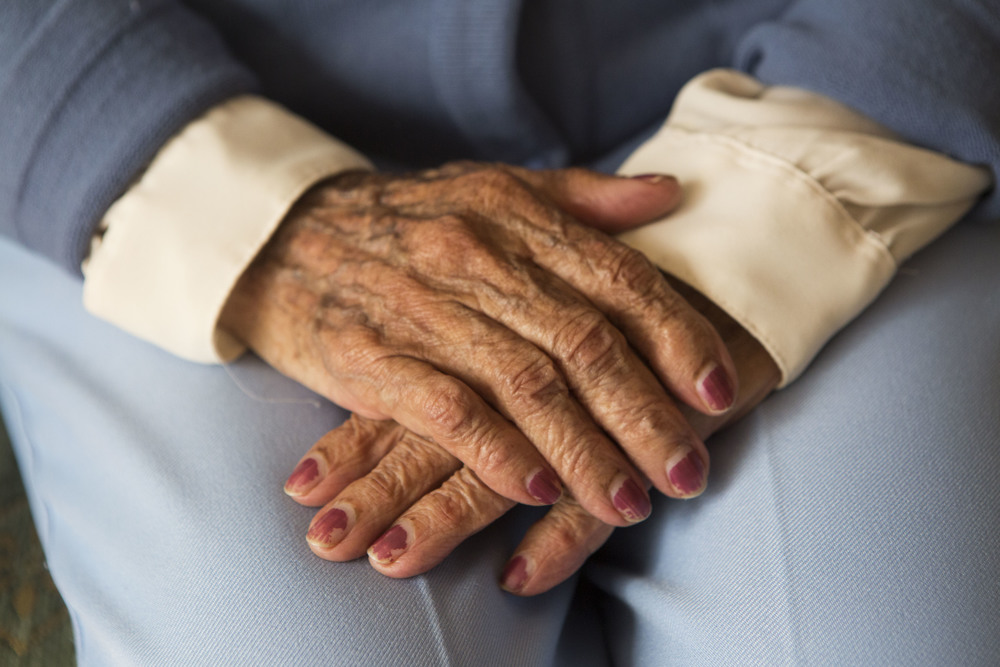 The beauty of aging hands. Rogelia Carrillo de Landazuri, 101 years old.