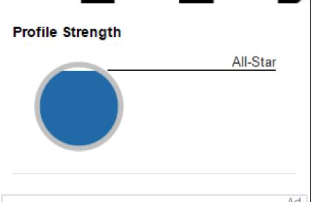 LinkedIn profile strength
