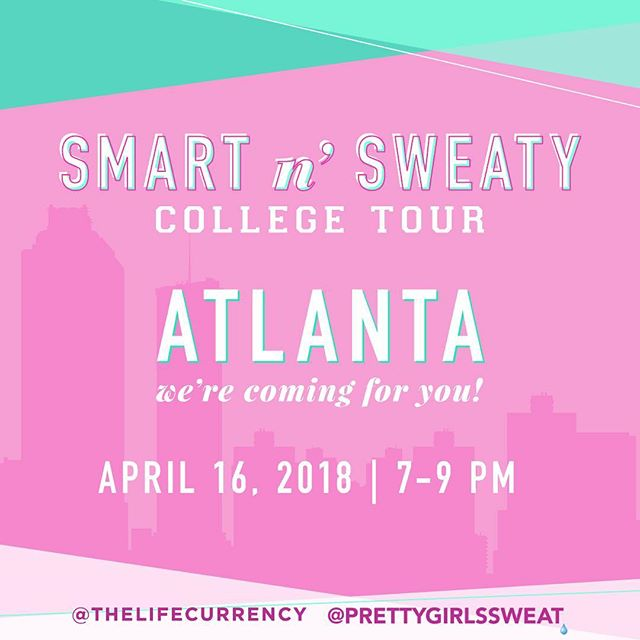 "The Life Currency and @prettygirlssweat have joined forces to bring color, creativity, and community to college women – offering an authentic conversation around wellness, financial literacy, campus and life- as well as a workout party! —/// 60 Sweat Sisters will enjoy a ""Barbie"" Boot Camp (with the sickest #NickiMinaj playlist) instructed by @trainerlauren 💕💪🏾, Q&A with @thelifecurrency founder @whitneymari_ and PGS founder @aeshiadevorebranch, and gift bags including products from Vita Coco, Ponds, COOLA, RAW REV, Gorjana jewelry, and The Life Currency. —/// Calling all Clark, Spelman, Georgia State, and Kennesaw State Sweat Sisters. Join us at 7PM 👉🏾Thomas Cole Exhibition Hall 💪🏾💕 —/// MUST RSVP TO ATTEND. Click link in our bio. —/// #sweatsisterhood #prettygirlssweat #aucfitness #pantherfit #pgsSNS #cau18 #cau19 #cau20 #cau21 #tlc #thelifecurrency"