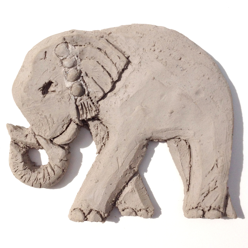 Clay Relief Elephant
