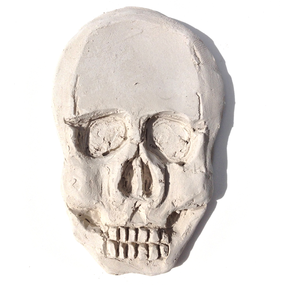Clay Relief Skull