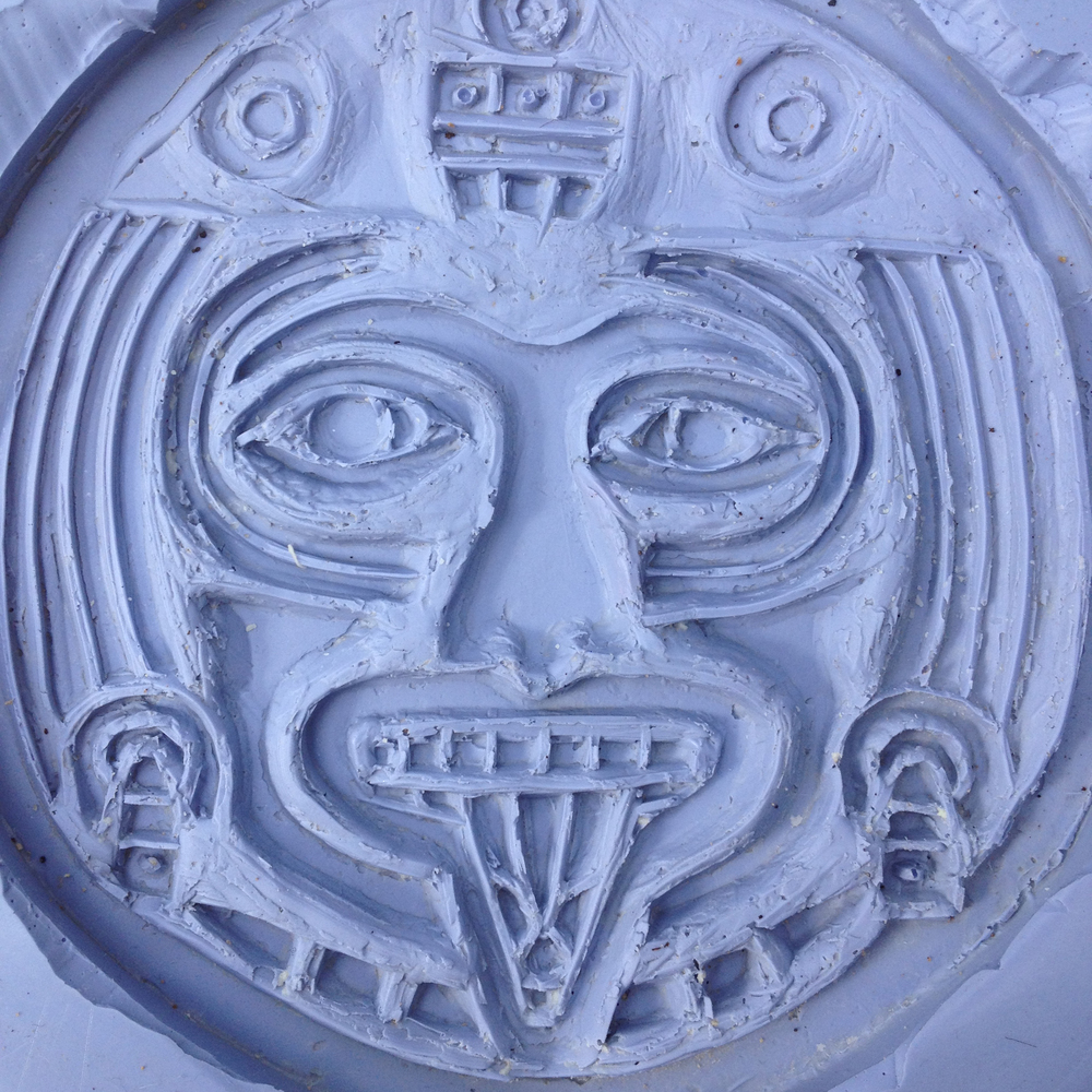 Silicon Mayan calendar detail mold.