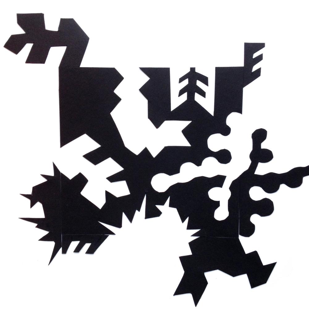 Notan, Paper cutout