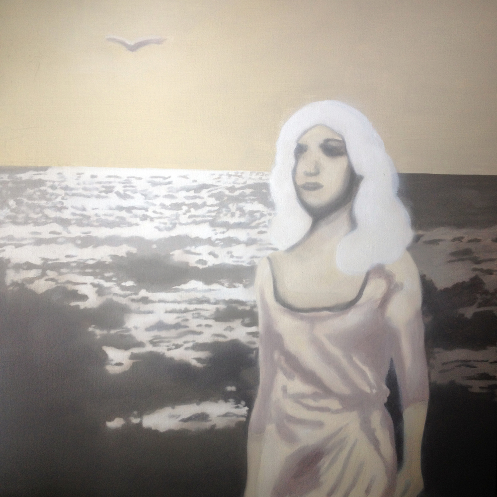 Woman and the Sea, Oil on Canvas
