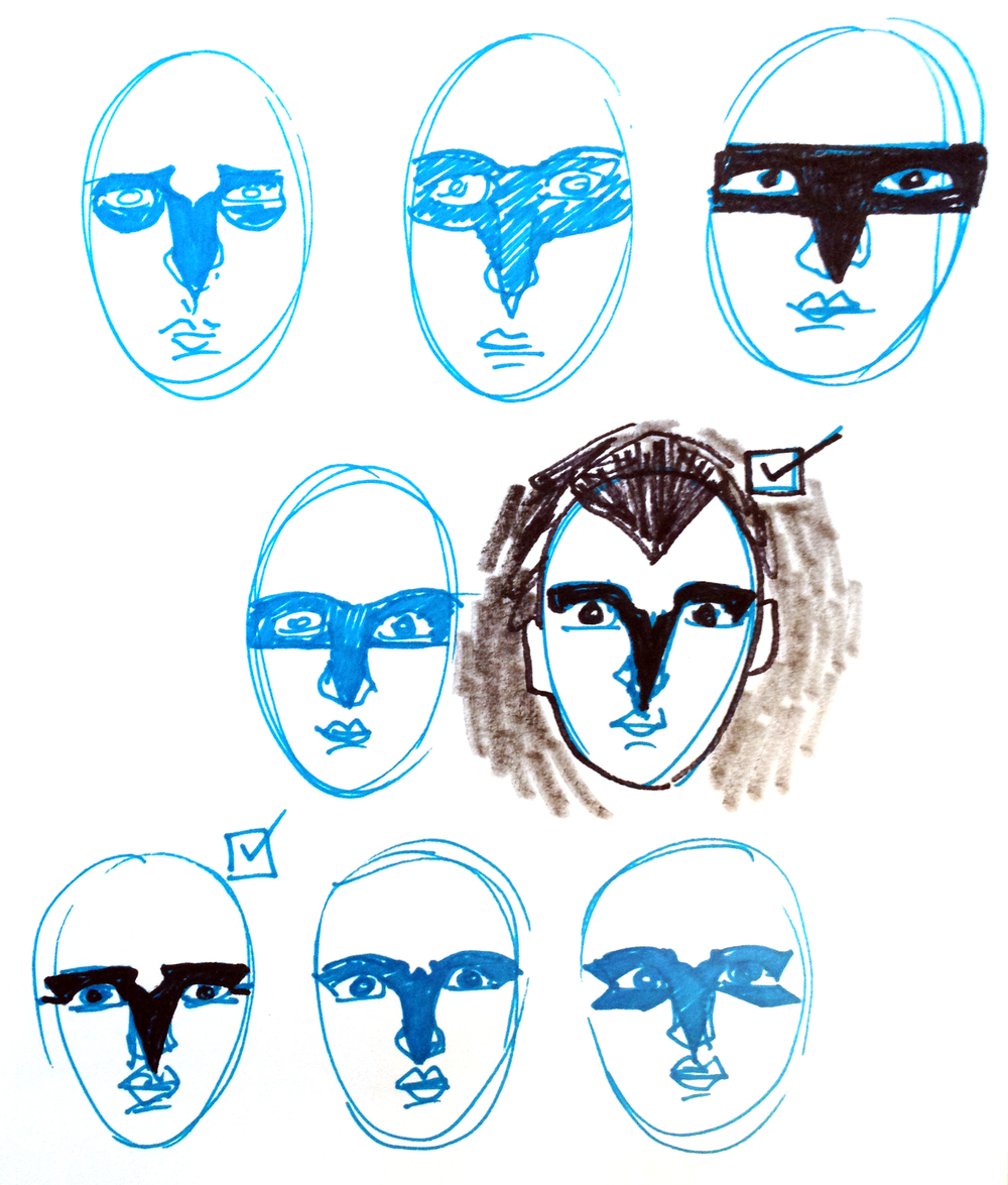 Eight faces and eight different ways to design a mask.