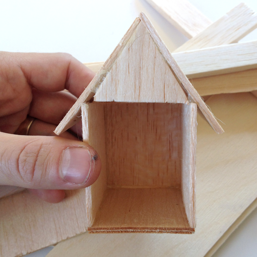 Look what you can do with seven squares of balsa wood!