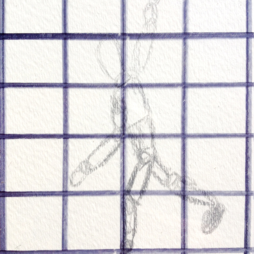Use a grid to examine foreshortening according to what you´re seeing with your eyes.