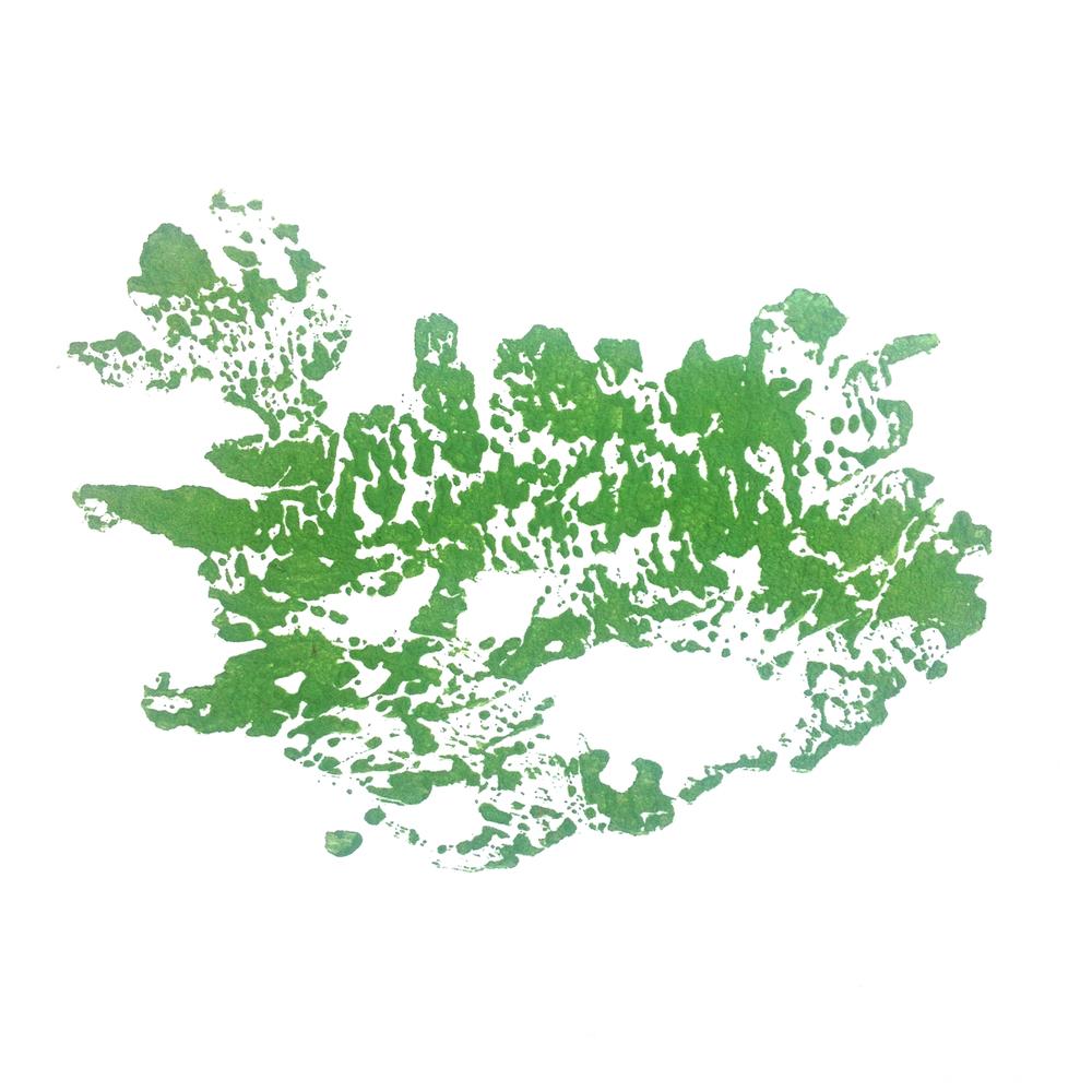 Íslandi, Woodblock print