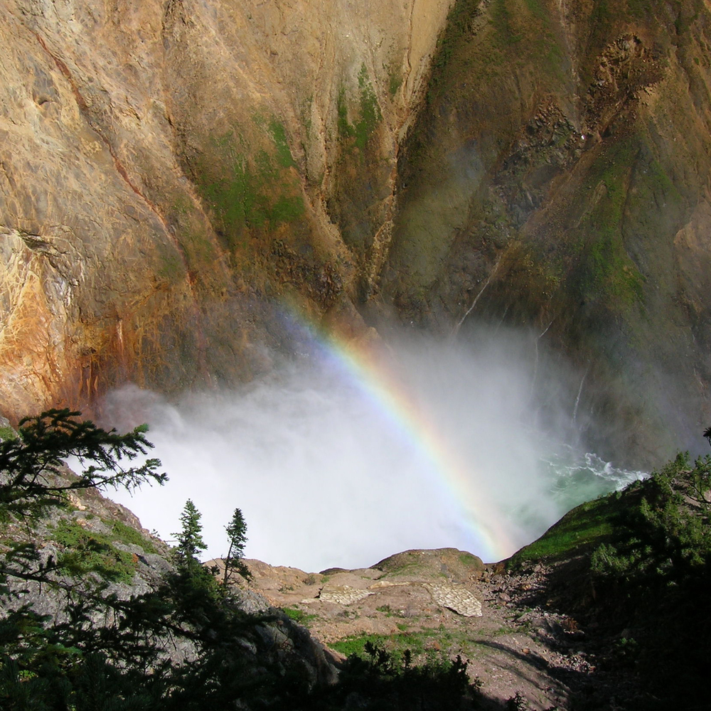 Rainbow and Falls, Yellowstone, Wyoming