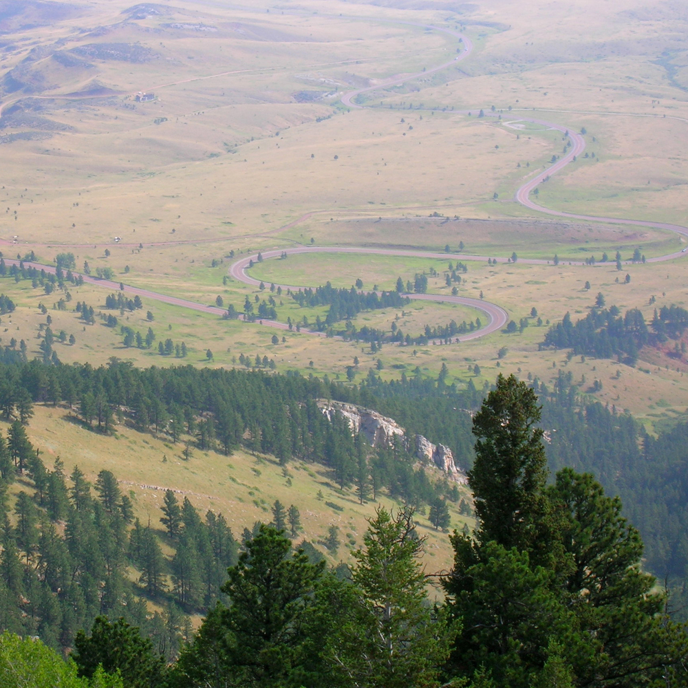 Vista from Mountains, Wyoming