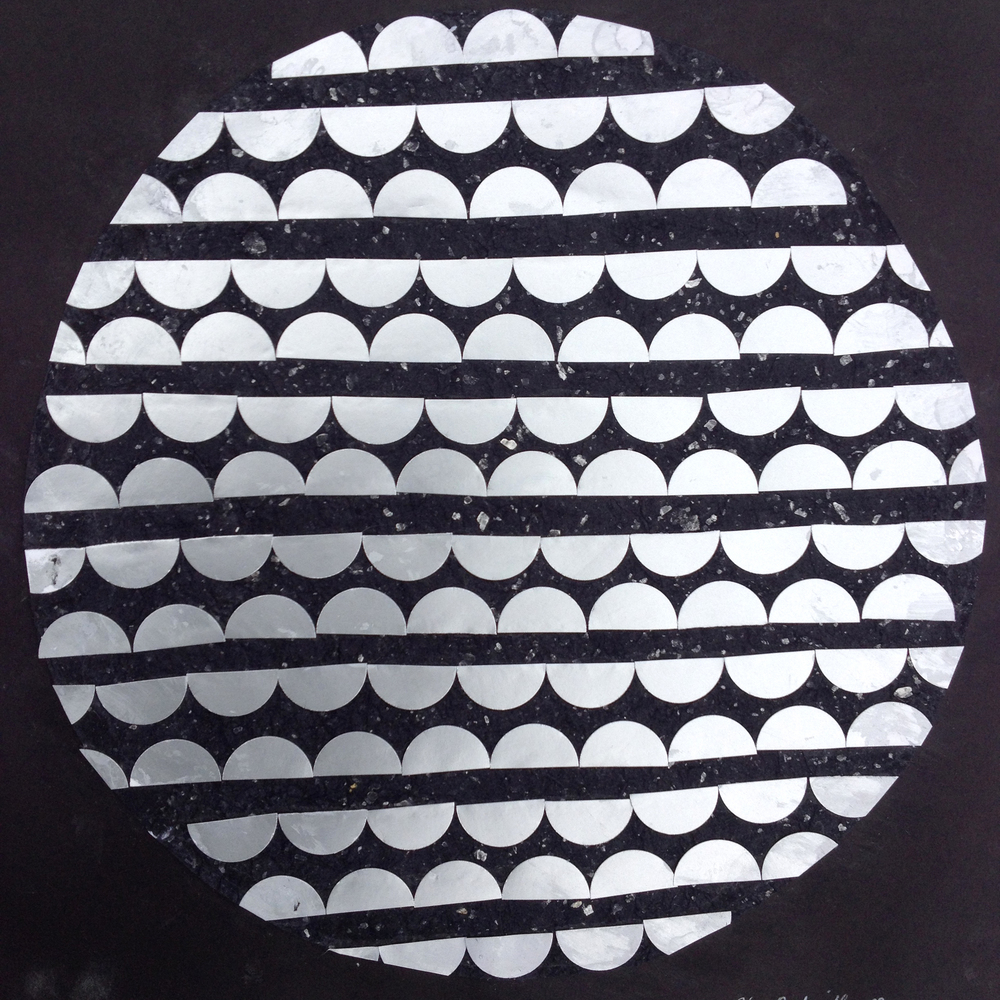 Moon in Well, Paper cutout