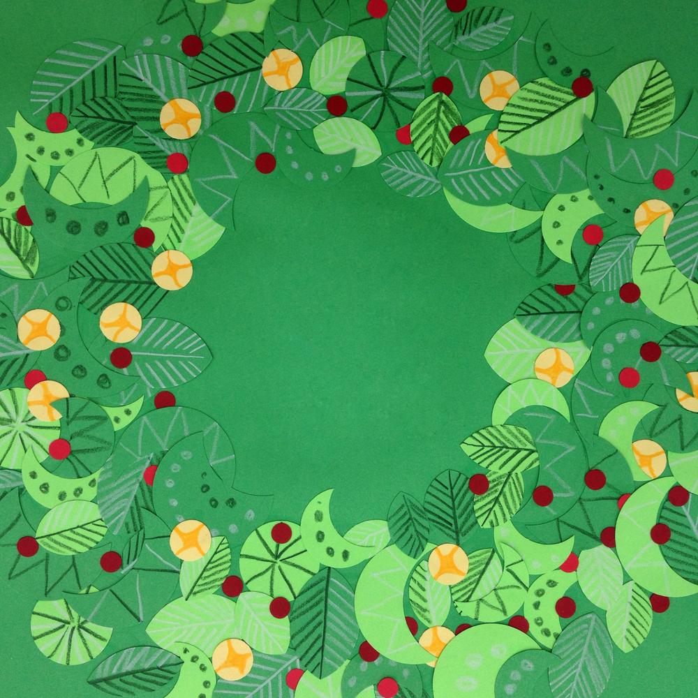Festive Garland, Paper cutout