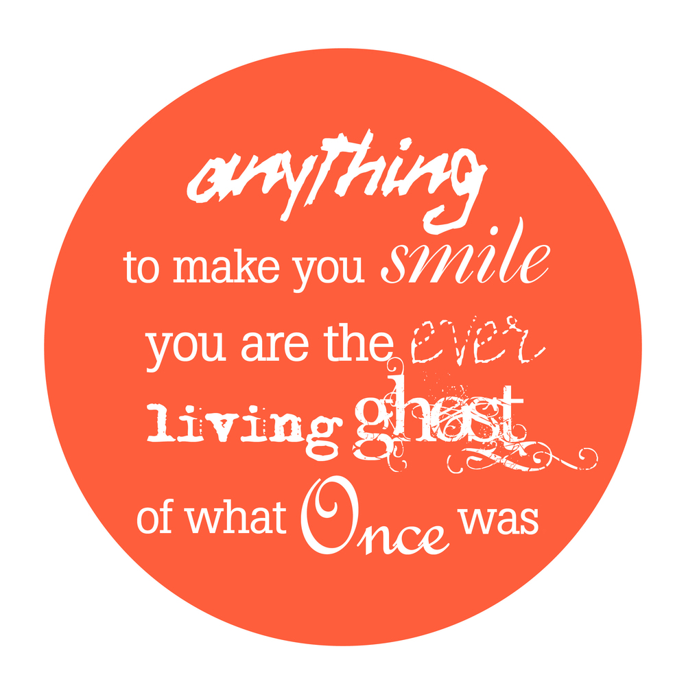 Anything to make you smile , Typographic layout